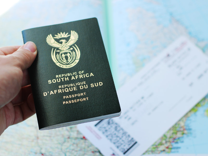 apply for a South African visa