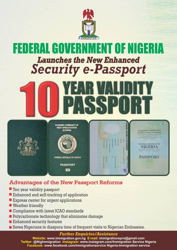 new nigeria passport