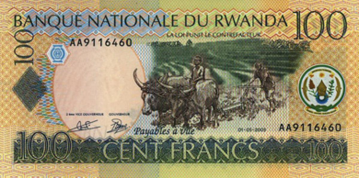 Rwandan francs 100